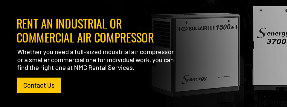 Rent an Industrial or Commercial Air Compressor. Contact Us