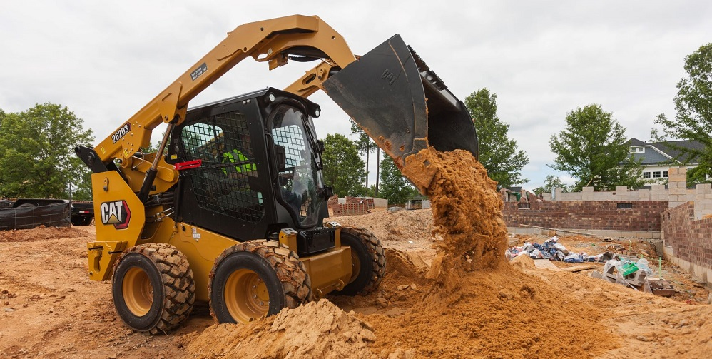 Skid Steer rental from NMC The Cat Rental Store in use